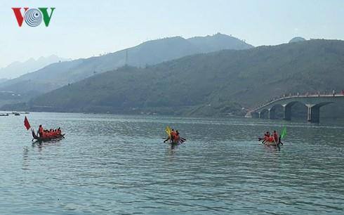 山萝省举行传统划船比赛 - ảnh 1