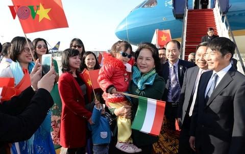 越南国会主席阮氏金银对匈牙利进行正式访问 - ảnh 1