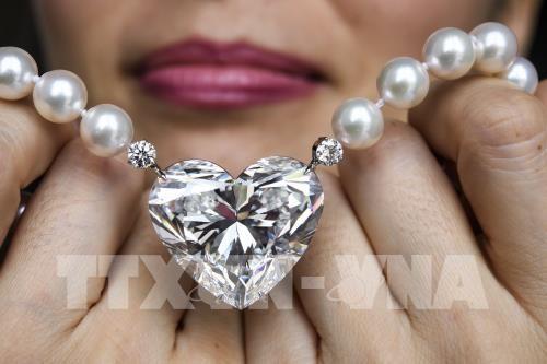 世界最大心形钻石成功拍卖 - ảnh 1