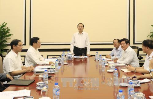 陈大光:各部门要紧密配合做好2017 APEC领导人会议周筹备工作 确保其成功举办 - ảnh 1