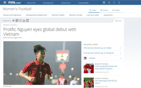 Football: Nguyen Thi Tuyet Dung honorée par la FIFA - ảnh 1