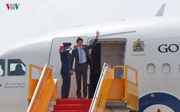Justin Trudeau quitte Ho Chi Minh-ville pour Danang - ảnh 1