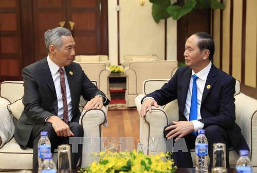 Tran Dai Quang reçoit le Premier ministre singapourien - ảnh 1