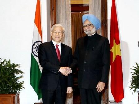 Vietnam e India por más cooperación bilateral - ảnh 1