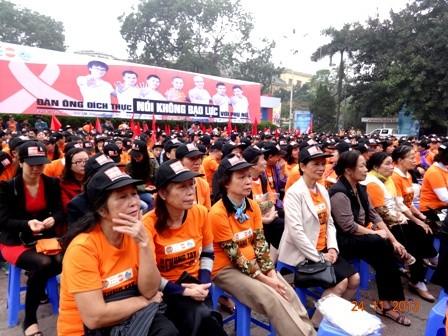 Vietnamitas juntan manos contra la violencia en personas vulnerables - ảnh 1