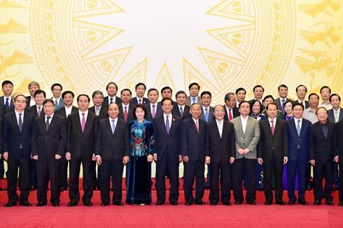 越南12届和13届政府成员见面会举行 - ảnh 1