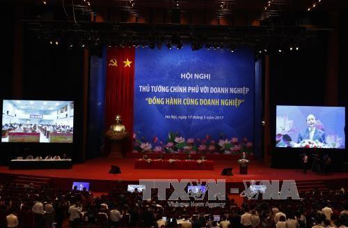 2017年越南政府总理与企业会议在河内开幕 - ảnh 1