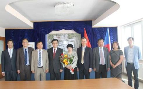 越南大使胡明俊向捷克总统泽曼递交国书 - ảnh 1