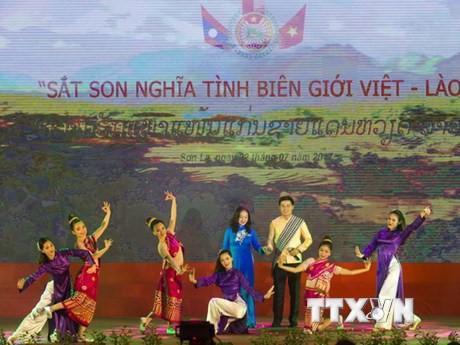 越友联秘书长兼副主席敦俊峰会见老挝和平团结委员会代表团 - ảnh 1