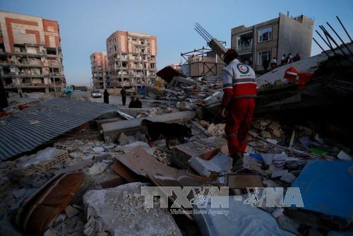 伊拉克与伊朗边境地区强震:伤亡人数继续上升 - ảnh 1
