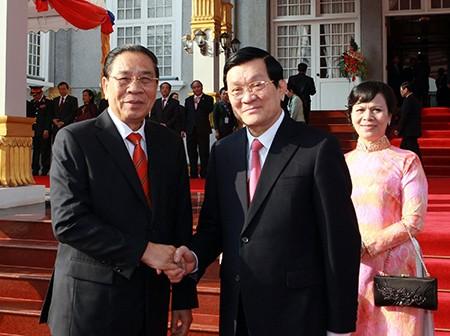 Staatspräsident Truong Tan Sang beendet Laosbesuch - ảnh 1
