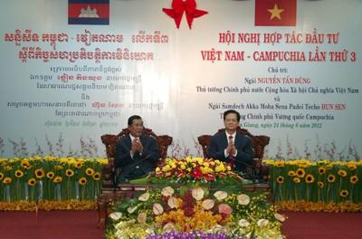 Einweihung des letzten Grenzsteins zwischen Vietnam und Kambodscha - ảnh 2