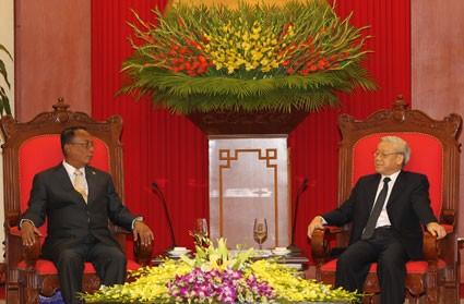 Myanmarischer Senatspräsident beendet seinen Vietnam-Besuch - ảnh 1