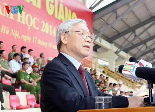 KPV-Generalsekretär Nguyen Phu Trong nimmt am Schuljahresbeginn der Sicherheitsakademie - ảnh 1