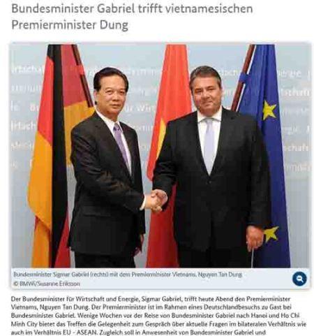 Deutsche Zeitungen berichten weiter über die Europa-Reise des Premierministers Nguyen Tan Dung - ảnh 1