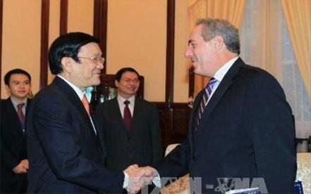 Staatspräsident Truong Tan Sang trifft US-Handelsvertreter in Hanoi - ảnh 1