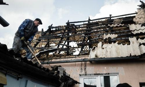 Konfliktparteien einigen sich auf eine Waffenpause in der Umgebung von Donezk - ảnh 1