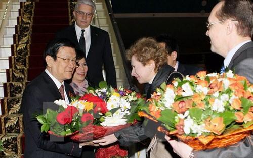 Staatspräsident Truong Tan Sang trifft Vorsitzenden der KP Russlands - ảnh 1