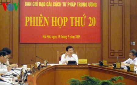 Staatspräsident Truong Tan Sang leitet die 20. Sitzung des Verwaltungsstabs für Justizreform - ảnh 1