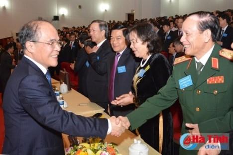 Parteivertreter nehmen an Sitzung der Parteiorganisation der Provinz Ha Tinh teil - ảnh 1