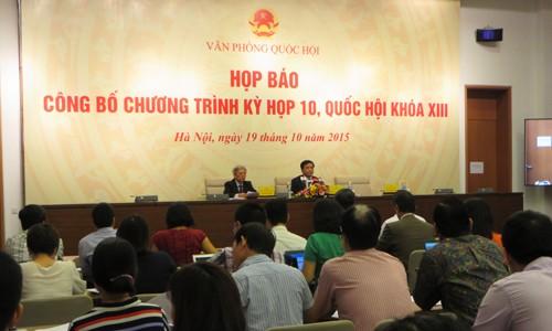 Neue Inhalte der bevorstehenden Parlamentssitzung - ảnh 1