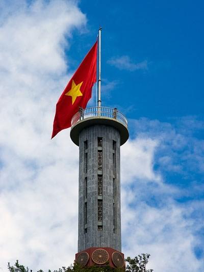 Flaggenturm Lung Cu in Nordvietnam - ảnh 1