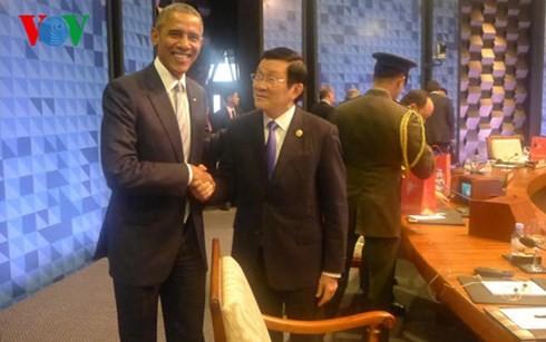 Staatspräsident Truong Tan Sang beendet Teilnahme am APEC-Gipfel  - ảnh 2