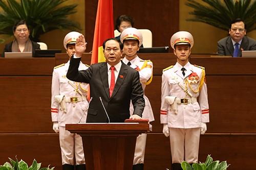 General Tran Dai Quang ist zum Staatspräsident gewählt worden - ảnh 1