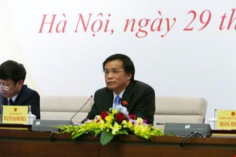 Pressekonferenz über das Ergebnis der Parlamentssitzung - ảnh 1