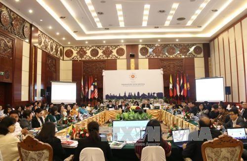 Hochrangige Wirtschaftsbeamte der ASEAN diskutieren acht Prioritäten der ASEAN-Wirtschaftssäulen - ảnh 1