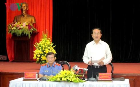 Staatspräsident Tran Dai Quang führt Arbeitstreffen mit der Staatsanwaltschaft - ảnh 1