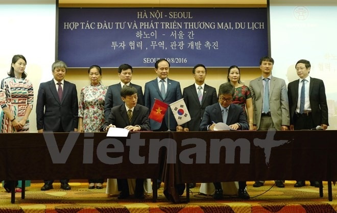 Delegation der Hauptstadt Hanoi besucht die südkoreanische Hauptstadt Seoul - ảnh 1