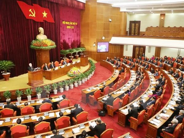 2. Arbeitstag der 4. Sitzung des KP-Zentralkomitees - ảnh 1