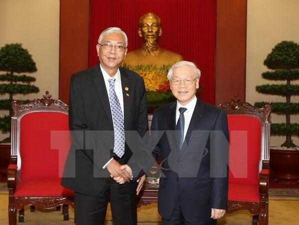 Myanmars Präsident beendet Besuch in Vietnam - ảnh 1