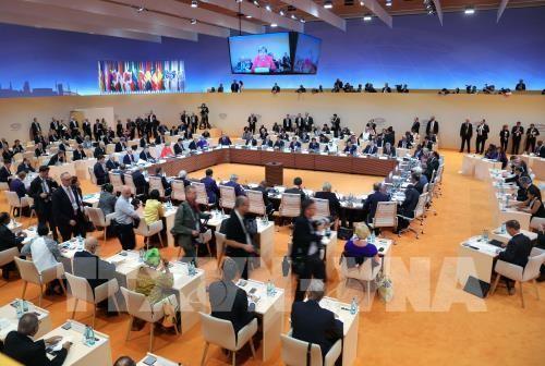 G20-Gipfel: Gemeinsame Erklärung betont Handel und Klimawandel - ảnh 1