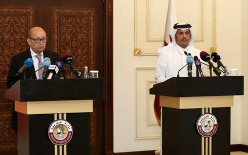 Frankreich drängt arabische Länder zur Lockerung ihrer Blockade gegen Katar - ảnh 1