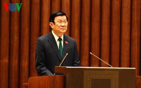 Chủ tịch nước trình Quốc hội 2 Tờ trình phê chuẩn Công ước của Liên hợp quốc về quyền con người   - ảnh 1