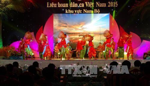 Bế mạc Liên hoan dân ca Việt Nam lần VI khu vực Nam bộ - ảnh 1