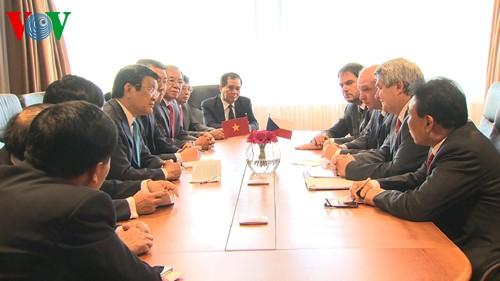 Hoạt động của Chủ tịch nước Trương Tấn Sang tại Cộng hòa Czech - ảnh 1