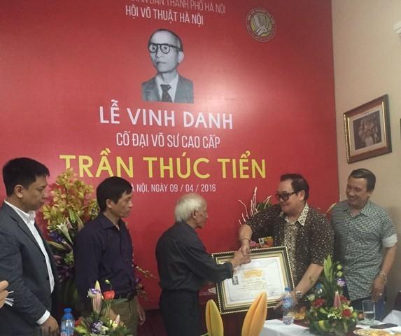 Lễ vinh danh cố đại võ sư Trần Thúc Tiển - ảnh 1