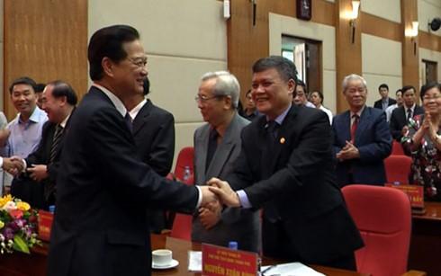 Nguyên thủ tướng Nguyễn Tấn Dũng tiếp xúc cử tri Hải Phòng - ảnh 1