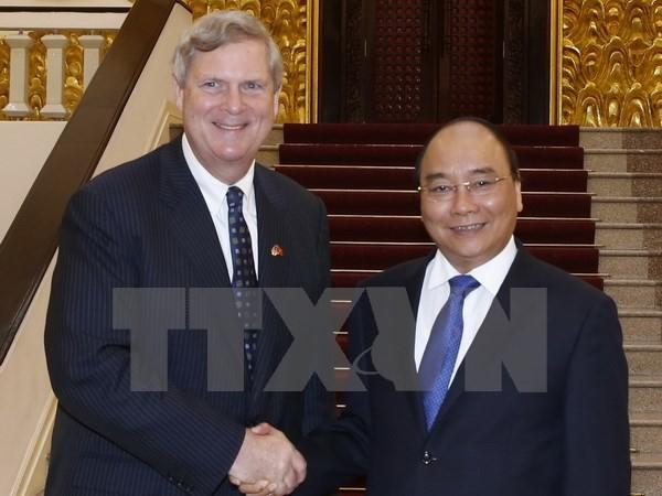 Thủ tướng Nguyễn Xuân Phúc tiếp Bộ trưởng Nông nghiệp Hoa Kỳ - ảnh 1