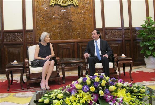 Chủ tịch nước Trần Đại Quang tiếp Đại sứ Đan Mạch Charlotte Laursen - ảnh 1
