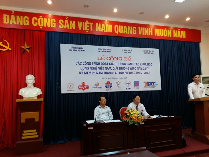 Công bố giải thưởng Sáng tạo Khoa học công nghệ Việt Nam và giải thưởng WIPO 2016 - ảnh 1