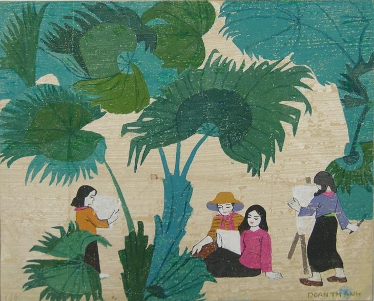 """""""Bản làng trong thung lũng """" triển lãm tranh của hai nữ họa sĩ Việt tại Đức - ảnh 3"""