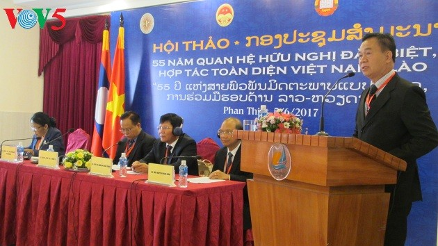 Hội thảo 55 năm quan hệ hữu nghị, hợp tác đặc biệt Việt - Lào và triển vọng - ảnh 1
