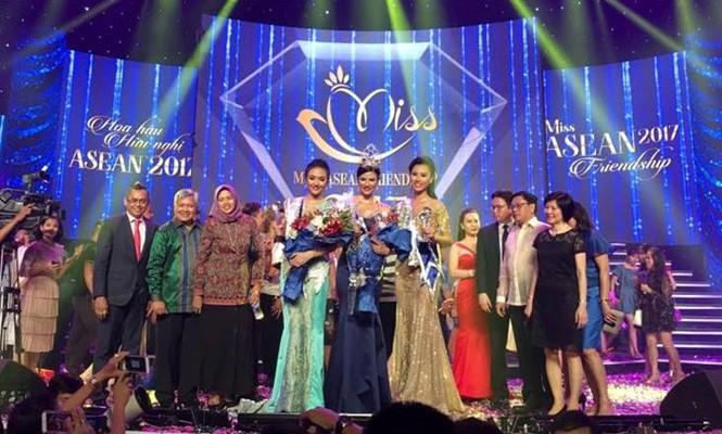 Người đẹp Việt Nam dành ngôi Á hậu 1 thi Hoa hậu Hữu nghị ASEAN - ảnh 1