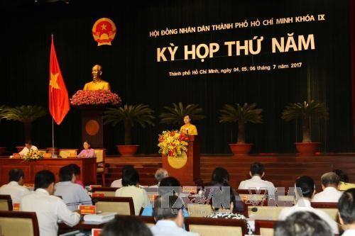 Khai mạc kỳ họp thứ 5 Hội đồng nhân dân Thành phố Hồ Chí Minh khóa IX - ảnh 1