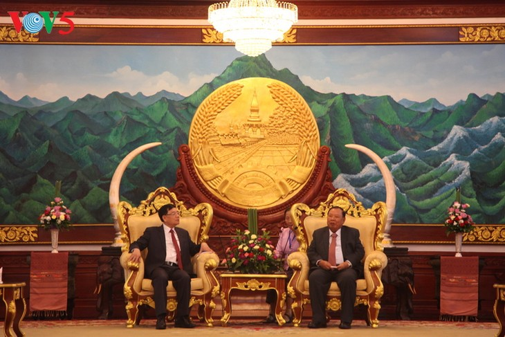 Đoàn đại biểu Trung ương Hội hữu nghị Việt Nam -Lào tiếp kiến lãnh đạo Lào - ảnh 1