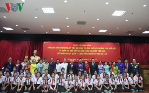 Phó Chủ tịch Quốc hội thăm và nói chuyện với kiều bào Việt Nam tại Lào - ảnh 2
